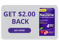 NAUZENE Chewables - Get $2.00 Back
