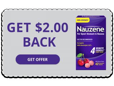 NAUZENE Chewables - Get $2.00 Back